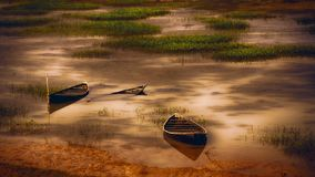 The boats are wait for Ride royalty free stock photos