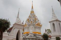 'Wat Phra Borommathat Chaiya Worawihan temple'is a name in Thai Royalty Free Stock Image