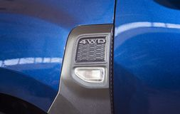 4x4 or 4wd car details. In closeup Royalty Free Stock Image