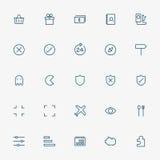 5x5 web minimal line icons on white background Stock Images