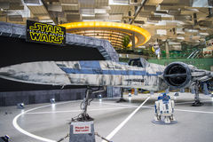 X-wing Starfighter at Terminal 2 Royalty Free Stock Photo