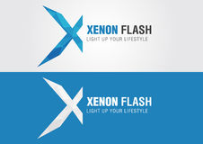 X Xenon icon symbol from an alphabet letter X. Creative design Royalty Free Stock Image
