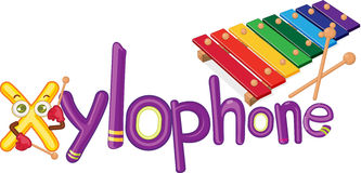 X for xylophone Stock Image