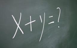 X+y=? symbol Royalty Free Stock Photo