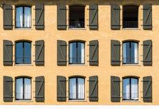 3x3 Yellow house in Copenhagen Royalty Free Stock Image