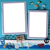 X12 de la page 12 de Digitals Scrapbooking de thème de sirène Photo libre de droits