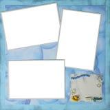 X12 della pagina 12 di Digitahi Scrapbooking di tema di tempo del bagno Fotografie Stock