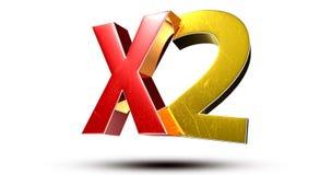 X2 3d. Royalty Free Stock Photos