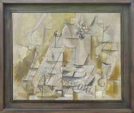 """""""Compotier, bouteille et verre"""", Georges Braque, 1912. Centre Pompidou, Paris. Stock Image"""