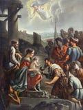 """""""L'Adoration des mages"""", Mathieu Le Nain, vers 1660-1665. Meaux, musée Bossuet. Royalty Free Stock Image"""