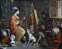 """L'atelier"", Mathieu Le Nain, vers 1655. Poughkeepsie, Frances Lehman Loeb Art Center. Royalty Free Stock Image"