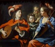 """""""Le concert"""", Mathieu Le Nain, vers 1655-1660. Musée d'art et d'archéologie du pays de Laon. Royalty Free Stock Image"""