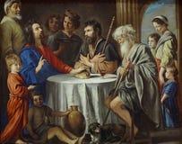 """""""Les pèlerins d'Emmaüs"""", Mathieu Le Nain, vers 1645. Musée du Louvre. Royalty Free Stock Photography"""