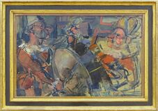 """Parade"", Georges Rouault, 1907-1910. Centre Pompidou, Paris. Royalty Free Stock Photos"