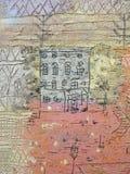 """""""Villas florentines"""" (détail), Paul Klee, 1926. Centre Pompidou, Paris. Royalty Free Stock Photography"""