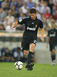 Xabi Alonso. Of Real Marid CF in action during a Spanish League match against RCD Espanyol de Barcelona at the Estadi Cornella-El Prat on September 12, 2009 in Royalty Free Stock Image