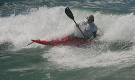 Xabi Olano (EUK) in International Classic Kayaksur Royalty Free Stock Image
