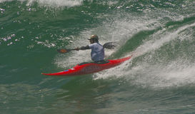 Xabi Olano (EUK) in Internationale Klassieke Kayaksur Stock Afbeelding