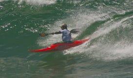Xabi Olano (EUK) in internationalem klassischem Kayaksur Stockbild