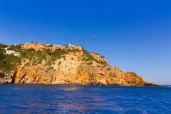 Xabia Javea Cala de la Barra in Spagna Mediterranea Fotografie Stock