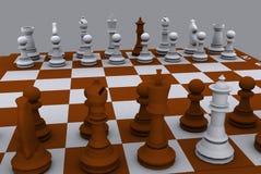 Xadrez 3d Imagens de Stock Royalty Free