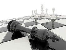 A xadrez 3D rende ilustração do vetor