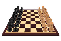 Xadrez - alta resolução, isolada ilustração stock