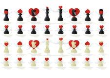 Xadrez Amorous ilustração royalty free
