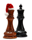 Xadrez com chapéu de Santa Foto de Stock Royalty Free