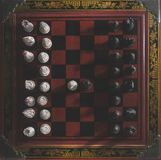 Xadrez com figuras chinesas velhas maravilhosas Imagem de Stock Royalty Free