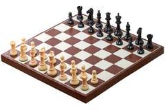 Xadrez - comece o partido foto de stock royalty free