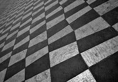 Xadrez-como o pavimento em agradável Foto de Stock