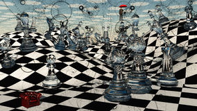 Xadrez da fantasia Fotografia de Stock Royalty Free