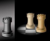 Xadrez da torre - vetor Imagens de Stock