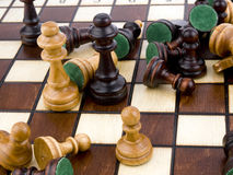 Xadrez de madeira Fotografia de Stock Royalty Free