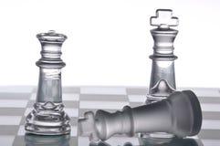 Xadrez de vidro Foto de Stock Royalty Free