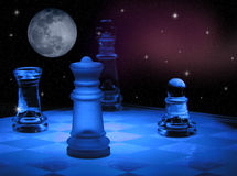 Xadrez do espaço ilustração royalty free