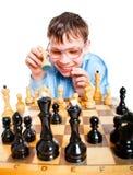 Xadrez do jogo do lerdo Foto de Stock