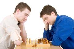 Xadrez do jogo dos homens Foto de Stock Royalty Free