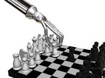 Xadrez dos robôs ilustração royalty free