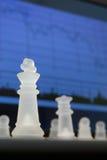 Xadrez e diagrama Fotografia de Stock