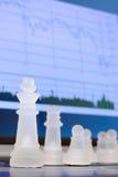 Xadrez e diagrama Imagem de Stock