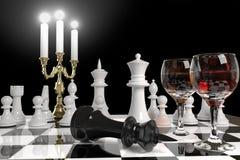 Xadrez e velas ilustração royalty free