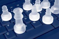 Xadrez em um teclado Fotos de Stock Royalty Free