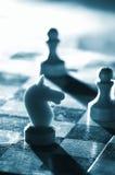 Xadrez em uma placa Fotografia de Stock Royalty Free