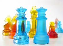 Xadrez feita do vidro Imagens de Stock