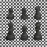 A xadrez figura isométrica, ilustração do vetor ilustração royalty free