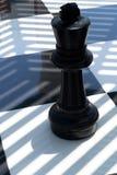 Xadrez fotografada em uma placa de xadrez fotografia de stock royalty free