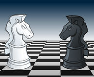 A xadrez Knights a discrepância - ilustração do vetor Fotos de Stock Royalty Free