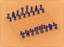 Xadrez - modelo retro ilustração royalty free